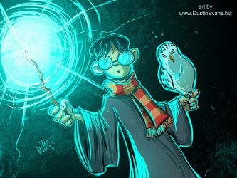 Harry Potter and Hedwig by DustinEvans