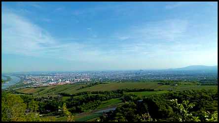 View Over Vienna From Leopoldsberg-002 by Charmadige