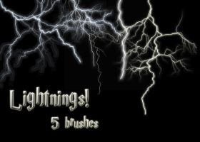 Lightning Brushes by wyckedBrush