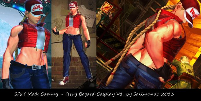 SFxT Mod: Cammy - Terry Bogard Cosplay V1 by repinscourge