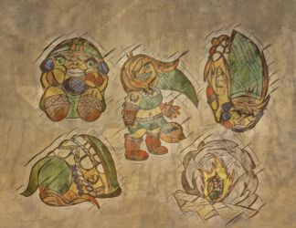 Various Positions Goron Linkah by Dalinkahzel