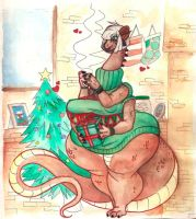 Mistle ~ Christmas Cutie ~ Watercolors by Limbo-Studios
