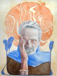Art Nouveau Style 05 - Jeremy Irons (2nd Try) by WeirdoOwl