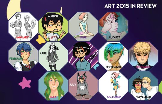 2015 Art In Review 1 by JMeh