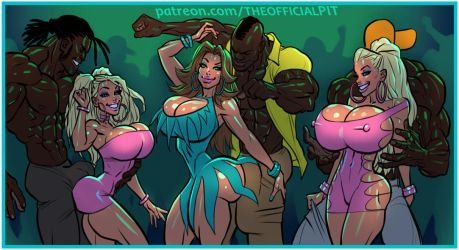 Kitty, Bianca, and Jenny go Clubbin' (D.I.D. pt V) by TheOfficialPIT