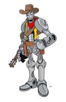 Pathfinder character Singing Robot Gunfighter by wonderfully-twisted