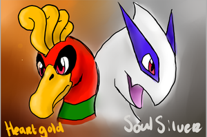 Ho-oh En Lugia by darkdragon-champion