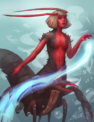 Lobster Mermaid by stallout