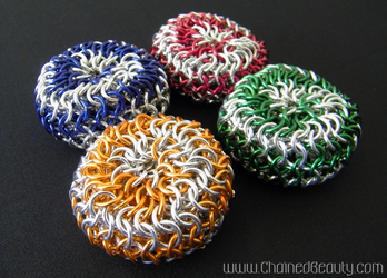 Chainmaille Spiral Footbags by ChainedBeauty