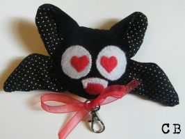 Lovely plush bat keyring by TheChgz