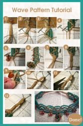 Macrame Wave Pattern Tutorial by ChaosFay