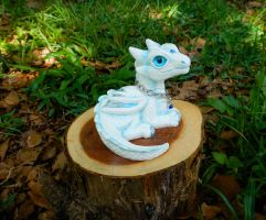 White Forest Spirit Dragon by DragonCid