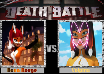 DEATH BATTLE: Rena Rouge VS Volpina by diebitch2947