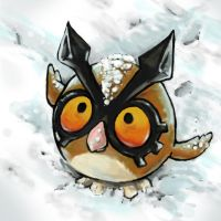 Hoothoot in the Snow by Puppy-Chow