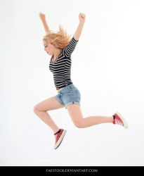 Jumping - Action Pose Reference 9 by faestock