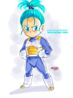Bra (Bulla in dub) Stunting like her Daddy Vegeta by Mark-Clark-II