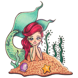 Mermaid in the Sand by sicara-deviant