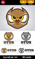 Otus - Logo Template by doghead