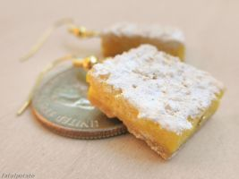 lemon bar dangle earrings by FatalPotato