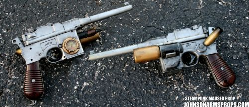 Steampunk Mauser combo by JohnsonArmsProps