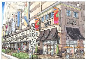 Lakes on Post Oak Retail by archacid