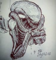 Xenomorph sketch by XStreamChaosOfficial
