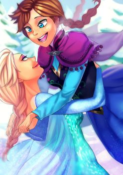 Elsa and Anna by SupTomat