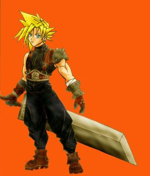 Cloud Strife color by tokicandy