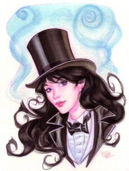 Zatanna watercolor by MichaelDooney
