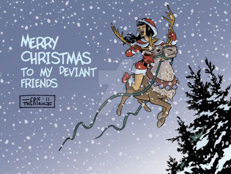 Veena says Merry Christmas 2011 by mistertheriault
