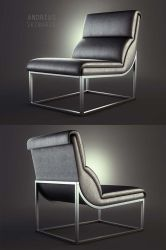 Leather chair by toto777