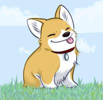 Happy Corgi by gryphonworks