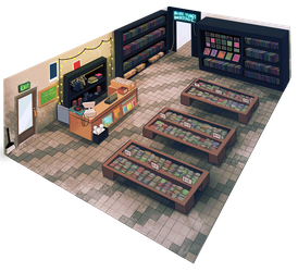 Record Store by MissButlerArt