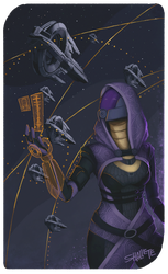 Tali'Zorah by shallete