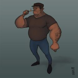 Big guy [Character Design] by GiovaBellofatto