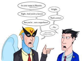 Phoenix vs. Birdman by Jarjarrr