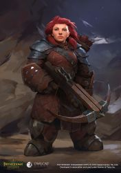 Pathfinder Kingmaker Dwarf Female Archer by VyacheslavSafronov