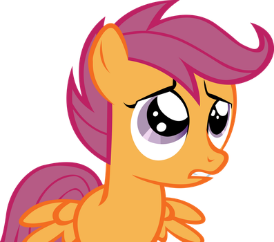 Confused Scootaloo by RainbowCrab