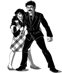 80s Organized Crime Couple by zarry