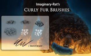 Curly Fur Brushes by ImaginaryRat