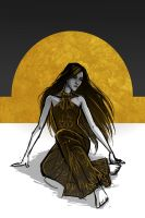 The Silver Eye - Melete in the Black and Gold Gown by LauraHollingsworth
