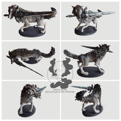 Sif, the Great Grey Wolf Sculpture by owlburger