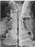 harry potter vs lord voldemort by drawinglerp
