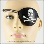 Jolly Roger Skull and Bones eye patch by EirewolfCreations