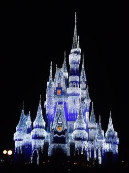 Lighted Disney Castle by Tigergirl3