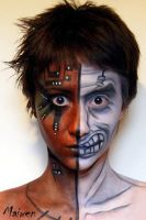 Half face_face painting by Maiwen