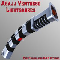 Asajj Ventress Lightsabres by mattymanx