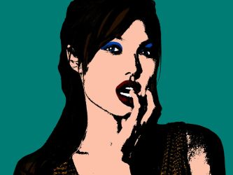 Angelina Jolie (Andy Warhol Pop Art Style) by angel-jolie