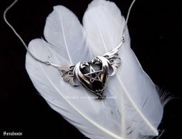 'Power of Dragons', sterling silver necklace by seralune