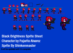 Black Brightness Sprite sheet (Progress) by shinkenmaster